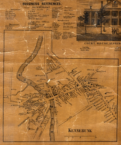 1856 York County Atlas wall map